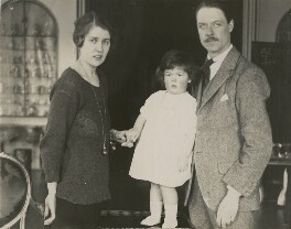 Lady Anne Wake-Walker (née Spencer); Albert Spencer, 7th Earl Spencer; Cynthia, Countess Spencer, by Unknown photographer - NPG x4095