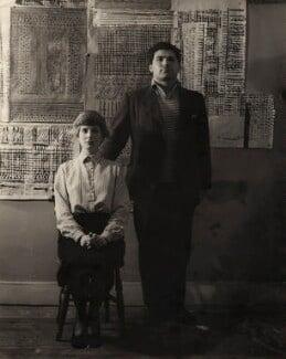 Freda Madge Paolozzi (née Elliott); Sir Eduardo Paolozzi, by Nigel Graeme Henderson - NPG x4112