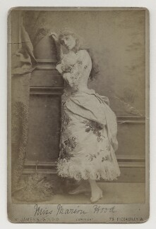 Marion Hood (née Sarah Ann Isaac) as Mabel in The Pirates of Penzance, by Alexander Bassano, published by  St James's Photographic Co - NPG x4175