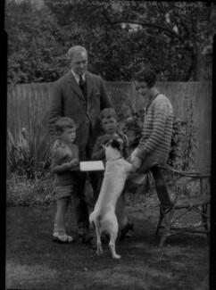 Eila Carey (née Reynolds); Gordon Vero Carey; Hugh Francis Gordon Carey; Ronald Clive Adrian Carey, by Lafayette - NPG x41868