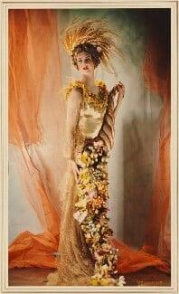 Dorothy Etta Warrender (née Rawson), Lady Bruntisfield as Ceres, by Madame Yevonde, 1935 - NPG x26033 - © Yevonde Portrait Archive