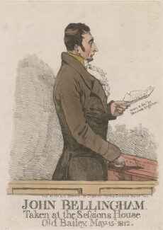 John Bellingham ('John Bellingham, taken at the Sessions House Old Bailey, May 15 1812'), by Denis Dighton - NPG D10750