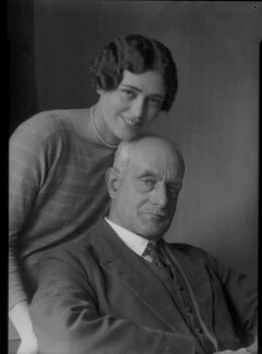 Howard Carr with his daughter, possibly Lila Louella Carr, by Lafayette - NPG x42530