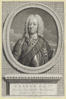 King George II, by Pierre or Peter Tanje, after  John Faber Jr - NPG D10758