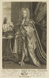 King George II, by Michael Vandergucht, after  Sir Godfrey Kneller, Bt - NPG D10760
