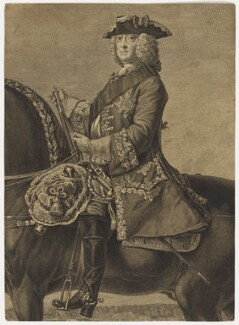 King George II, by Simon François Ravenet, after  David Morier - NPG D10762
