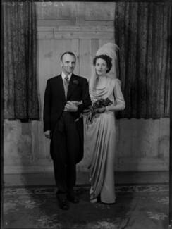 Margaret Elizabeth (née Robertson), Lady Silsoe; Malcolm Trustram Eve, 1st Baron Silsoe, by Bassano Ltd - NPG x43052