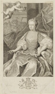 Caroline Wilhelmina of Brandenburg-Ansbach, by George Vertue, after  Jacopo Amigoni - NPG D10772