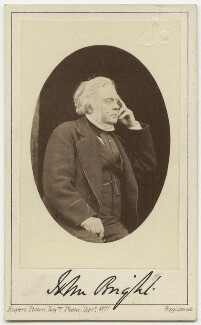John Bright, by Rupert Potter, September 1871 - NPG x4310 - © National Portrait Gallery, London