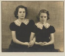Barbara Adler Katzander (née Adler); Nancy J. Adler, by Dorothy Wilding, 19 June 1940 - NPG x4349 - © National Portrait Gallery, London