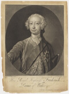 Frederick Lewis, Prince of Wales, by John Faber Jr, after  Bartholomew Dandridge - NPG D10774