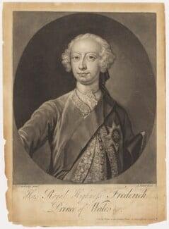 Frederick Lewis, Prince of Wales, by John Faber Jr, after  Bartholomew Dandridge, probably 1730s - NPG D10774 - © National Portrait Gallery, London