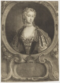 Augusta of Saxe-Gotha, Princess of Wales, by Thomas Burford, after  Charles Philips - NPG D10775