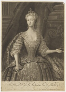 Augusta of Saxe-Gotha, Princess of Wales, by John Faber Jr, after  Charles Philips - NPG D10777