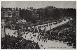 'The passing of King Edward VII', published by James Valentine & Sons Ltd - NPG x44623