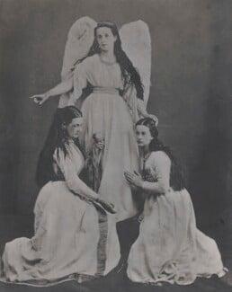 Amelia (née Herschel), Lady Wade; Caroline Emilia Mary (née Herschel), Lady Hamilton-Gordon; Francisca ('Fancy') Herschel, by Unknown photographer - NPG x44629
