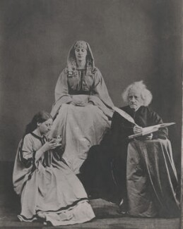 Isabella Herschel; Maria Sophia Hardcastle (née Herschel); Sir John Frederick William Herschel, 1st Bt, by Unknown photographer, 1864, printed later - NPG x44630 - © National Portrait Gallery, London