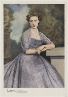 Princess Margaret, by Dorothy Wilding, hand-coloured by  Beatrice Johnson - NPG x44638