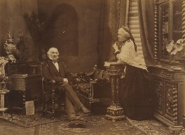 Catherine Gladstone (née Glynne); William Ewart Gladstone, by John Fergus - NPG x44649