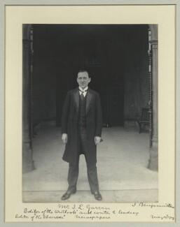 James Louis Garvin, by Benjamin Stone - NPG x44679