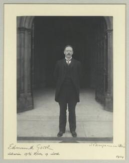 Sir Edmund William Gosse, by Sir (John) Benjamin Stone, 1904 - NPG x44682 - © National Portrait Gallery, London