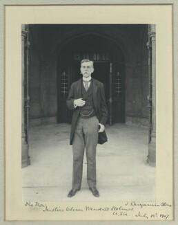 Oliver Wendell Holmes Jr, by Benjamin Stone - NPG x44798