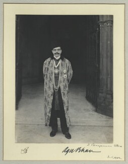 Aga Khan III (Mohammed Shah), by Benjamin Stone, July 1902 - NPG x44817 - © National Portrait Gallery, London