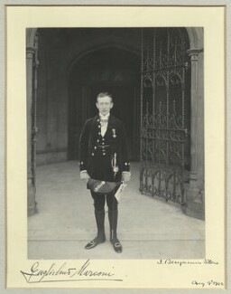 Guglielmo Marconi, by Benjamin Stone - NPG x44867