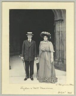 Guglielmo Marconi; Hon. Beatrice Marconi (née O'Brien, later Marquise di Montecorona), by Benjamin Stone - NPG x44868