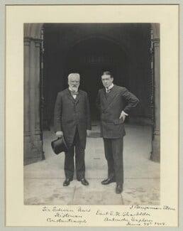 Sir Edwin Pears; Sir Ernest Henry Shackleton, by Sir (John) Benjamin Stone, 29 June 1909 - NPG x44958 - © National Portrait Gallery, London