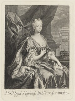 Princess Amelia Sophia Eleanora, after Jacopo Amigoni - NPG D10786