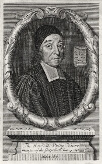 Philip Henry, by Robert White, after  R. Holland - NPG D10785