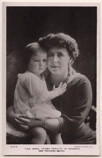 Princess Ileana of Romania; Marie, Queen of Romania, by F. Mandy, published by  Rotary Photographic Co Ltd - NPG x45052