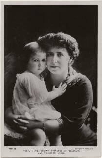 Princess Ileana of Romania; Marie, Queen of Romania, by F. Mandy, published by  Rotary Photographic Co Ltd - NPG x45053
