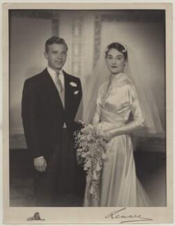 Albert Kevin Alan Kaplan; Dame Simone Ruth Prendergast (née Laski), by Lenare, 1953 - NPG x45107 - © National Portrait Gallery, London