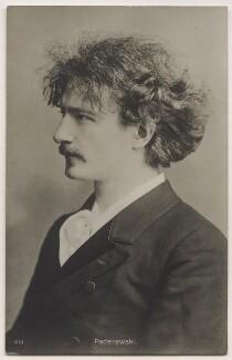 Ignace Jan Paderewski, by Oscar Remandas, for  London Stereoscopic & Photographic Company - NPG x45119