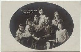 Tsar Nicholas II and Tsarina Alexandra with their children, by Unknown photographer - NPG x45126