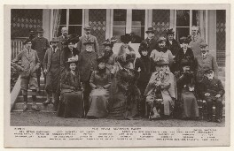 'The Royal Shooting Party', published by Rotary Photographic Co Ltd, 14 November 1907 - NPG x45128 - © National Portrait Gallery, London
