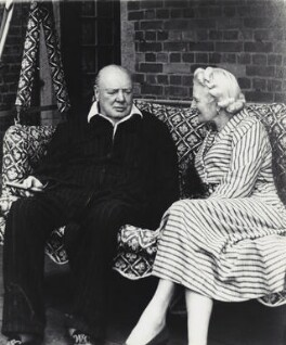 Clementine Ogilvy Spencer-Churchill (née Hozier), Baroness Spencer-Churchill; Winston Churchill, by Vivienne, September 1951 - NPG x45178 - © reserved; collection National Portrait Gallery, London