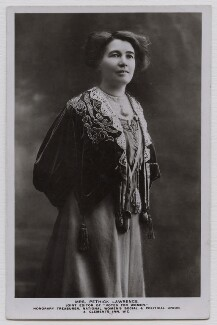 Emmeline Pethick-Lawrence, by Unknown photographer - NPG x45191