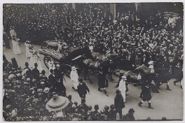 Procession of Emily Davison's funeral, by F. Kehrhahn & Co, June 1913 - NPG  - © National Portrait Gallery, London