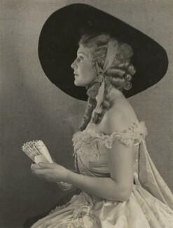 Madeleine Carroll as Lady Teazle in 'School for Scandal', by Dudley Glanfield - NPG x45234