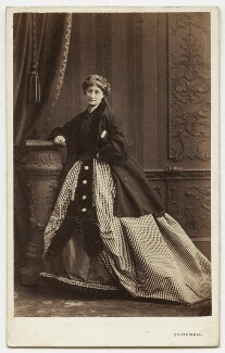 Eliza Price Noble (née Campbell), Lady Otway (later Mrs Leathem), by Southwell Brothers, circa 1862 - NPG x45344 - © National Portrait Gallery, London