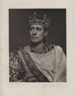 Lewis Waller (William Waller Lewis) as Henry V in 'Henry V', by Lizzie Caswall Smith, published by  Virtue & Co - NPG x45358