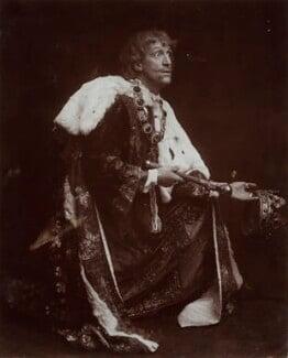 Frank Benson as 'Richard II', by Lizzie Caswall Smith - NPG x45462