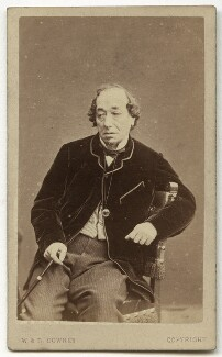 Benjamin Disraeli, Earl of Beaconsfield, by W. & D. Downey - NPG x45467