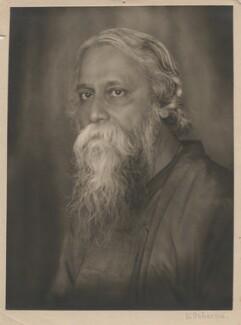 Rabindranath Tagore, by Li Osborne (née Luisa Friedericke Susanna Wolf, later Louise Hutchinson-Wolf) - NPG x45499