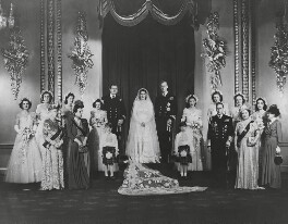 'The Royal Wedding of H. Majesty the Queen to the Duke of Edinburgh 1947', by Vandyk - NPG x45730