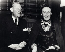 Sir Osbert Sitwell; Edith Sitwell, by Ruth Sondak - NPG x45790