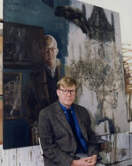 Alan Bennett, by Barry Wood - NPG x45809